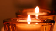 Stock Video Footage of Close-up of candle flame
