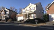 Stock Video Footage of neighborhood quiet houses ZI