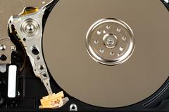 Uncovered 2,5 inch notebook hard drive Stock Photos