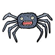 cartoon tarantula - stock illustration