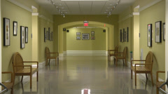 Interior office hallway empty ZO Stock Footage