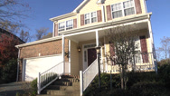 Stock Video Footage of neighborhood quiet sunlight house