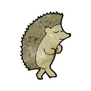 cute cartoon hedgehog - stock illustration
