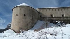 Colmar Les Alpes Fort de Savoie Turret Stock Footage