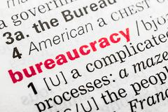 Bureaucracy Word Definition Stock Photos