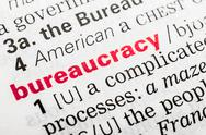 Stock Photo of Bureaucracy Word Definition
