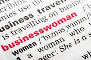Stock Photo of Businesswoman Word Definition