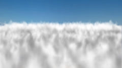 Flight over clouds - stock footage