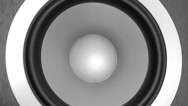 Stock Video Footage of Bass speaker playing