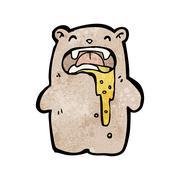 Gross little bear cartoon Stock Illustration