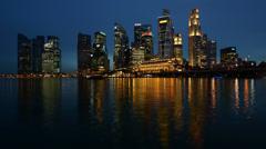 Night Singapore (Ultra HDTV) Stock Footage