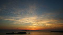 Ocean Sunset (Ultra HDTV) Stock Footage
