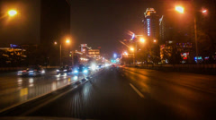 The traffic is flowing smoothly at Changan Avenue in Beijing, China Stock Footage