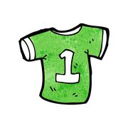 cartoon sports shirt with number one - stock illustration