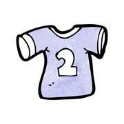 cartoon sports shirt with number two - stock illustration