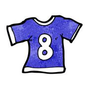 Cartoon sports shirt with number eight Stock Illustration