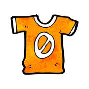 cartoon sports shirt with number zero - stock illustration