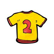 Stock Illustration of cartoon sports shirt