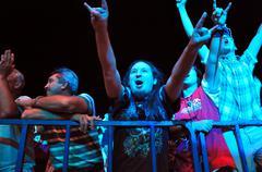 Deak Bill Gyula Blues Band on the stage - stock photo
