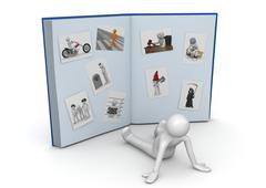 Valtava valokuva-albumi - lifestyle kokoelma Piirros