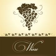 Bunch of grapes for label of wine Stock Illustration