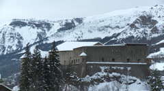 Colmar Les Alpes Fort de Savoie Stock Footage