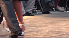1239  Tango dancers on a stage Stock Footage