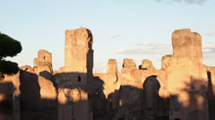 Caracalla Thermae in Rome, Italy Stock Footage