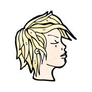 cartoon profile - stock illustration