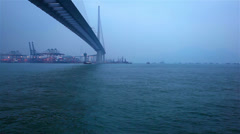 Tsing Ma Bridge Hong Kong Stock Footage