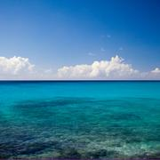 calm azure blue tropical ocean - stock photo