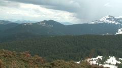 Carpathians - Clouds on the mountains landscape Stock Footage