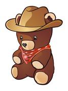 Cowboy Teddy Bear Cartoon Character Stock Illustration