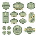 Stock Illustration of vintage labels set. sale, discount, membership, premium quality