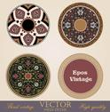 Stock Illustration of vintage circle frames and borders design elements collection.