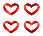 Stock Illustration of heart icons set. infinite love looped ribbon style.