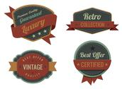 Stock Illustration of vintage labels template collection. luxury retro logo template.