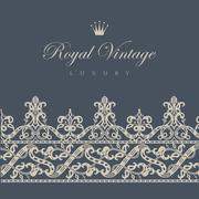 Stock Illustration of vintage floral border tiling element.  retro design collection.