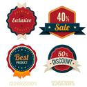 Stock Illustration of vintage labels template set. sale, discount theme. retro logo template design