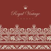 Vintage floral border.  retro design elements collection. Stock Illustration
