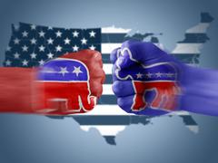 Republicans x democrats Stock Illustration