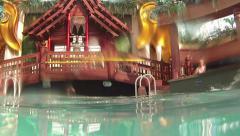 Luxury resort cruise ship swimming pool underwater HD 0253 Stock Footage