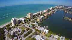 Birds eye view of Naples Beach Florida Stock Footage