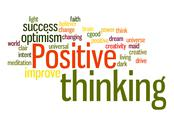 Stock Illustration of positive thinking word cloud