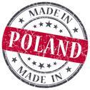 Stock Illustration of made in poland red grunge round stamp isolated on white background