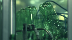 Green bottles Stock Footage