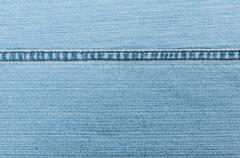 Stock Photo of blue jeans texture with seam