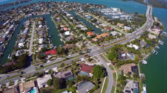 Residential Islands Marco Island 2 Stock Footage