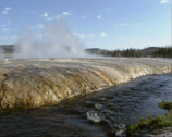 Stock Video Footage of River streaming along vulcanic area Black Sand Basin, Yellowstone National Park