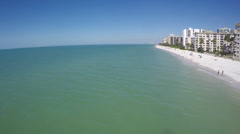 Marco Island flyby 2 Stock Footage